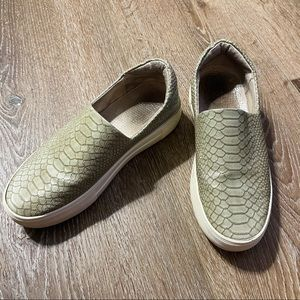 J Slides Embossed Delia Leather Slip-On Sneakers